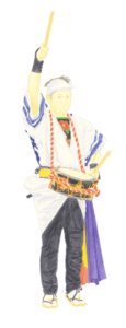 湯本南条踊りイラスト